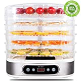 zociko Food Dehydrator Machine, Multi-Tier Food Preserver, Beef Jerky Maker Fruit & Vegetable