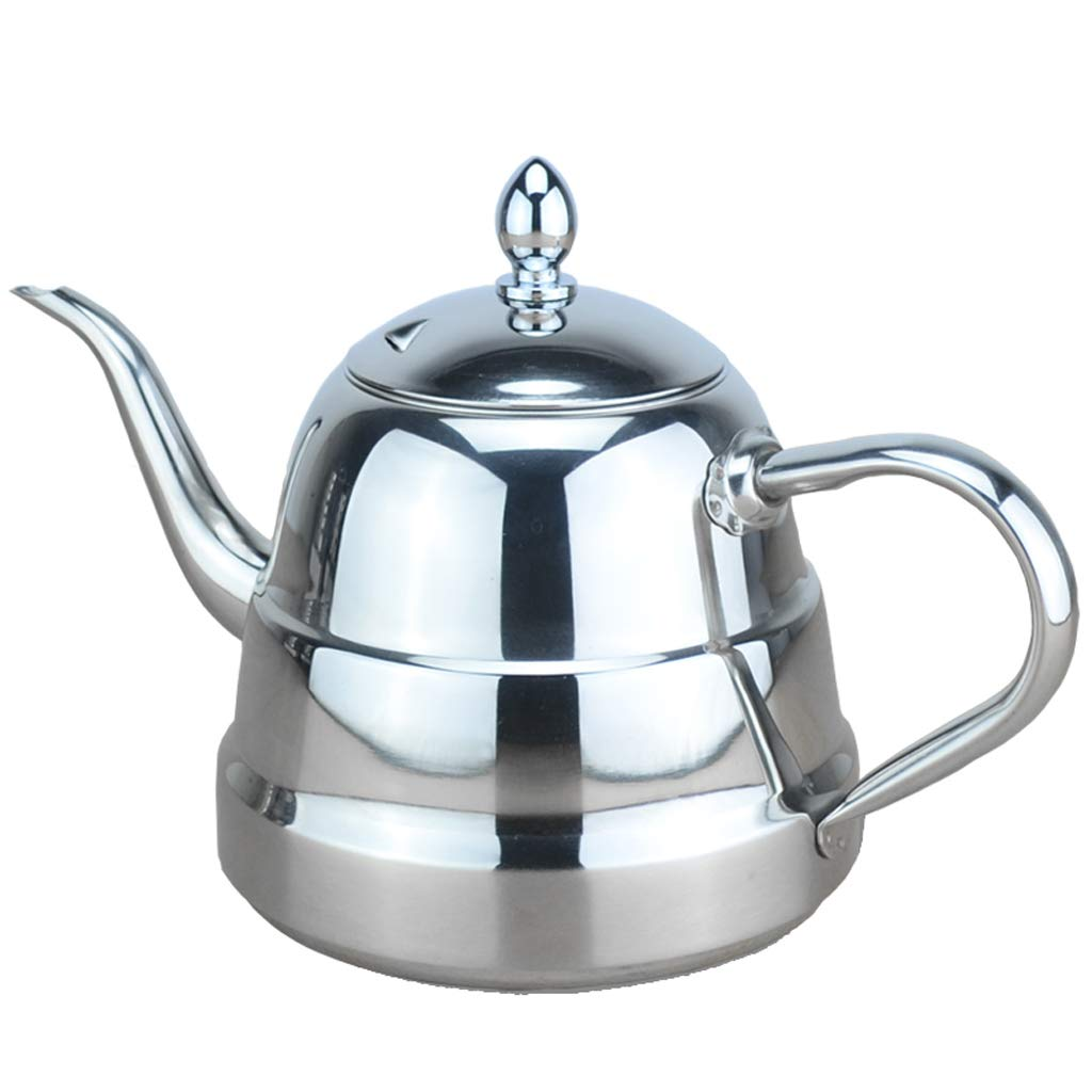 B Blesiya 1L Water Coffee Pot Kettle Espress with Mesh Infuser Indution, Stovetop Safe, Whistling