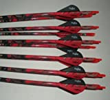 Carbon Express Maxima BLU RZ 250 Carbon Arrows w/Blazer Vanes Mossy Oak Blaze Wraps 1 Dz.