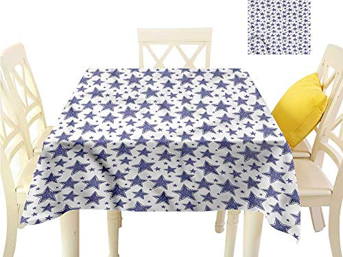 WilliamsDecor Outdoor Picnics Star,Hand Drawn Doodle Motifs Picnic Cloth W 36