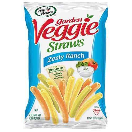 (Sensible Portions Garden Veggie Straws, Zesty Ranch, 16 oz. (Pack of 6))