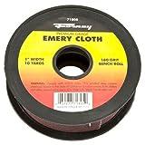 Forney 71805 Emery Cloth, 180-Grit, 1-Inch by 10-Yard Bench Roll