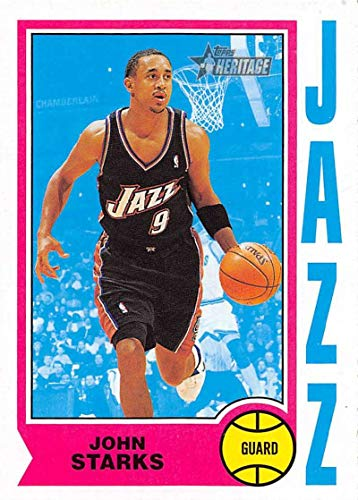 2001-02 Topps Heritage Basketball #166 John Starks Utah Jazz Official NBA Trading Card ()