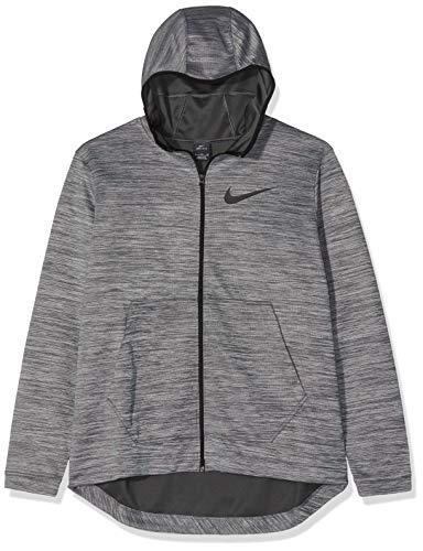 Basketball Hooded (Nike Men's Spotlight Basketball Hoodie Full Zip Standard Fit AH7596 050 (XL) Grey)