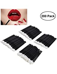 Disposable Lip Brush, ETEREAUTY 200Pcs Lip Gloss Applicators Lipstick Wands Tool Wands Applicator Kits with Bonus 5 Travel Seal Bags
