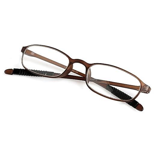 67ae2ff178d9 Amazon.com: Doober TR90 Women Men Flexible Reading Glasses Readers Strength  Presbyopic Glasses (Tawny, 1.0): Clothing