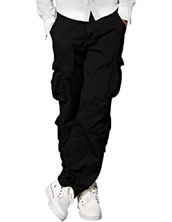 67b16f6e6d4 TACVASEN Men s Casual Cargo Trousers Relaxed Straight Cotton Work ...