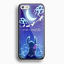 Stitch Peter Pan i wish i could fly for iPhone 5/5s Black case