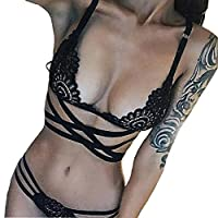BIG SALE?Underwear Set ,BeautyVan Fashion Design Women Sexy Intersect Strap Lace Briefs Underwear
