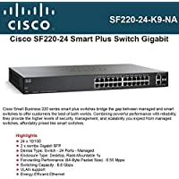 Cisco SF220-24-K9-NA Small Business Smart Plus SF220-24 - Switch - managed - 24 x 10/100 + 2 x combo Gigabit SFP - desktop, rack-mountable