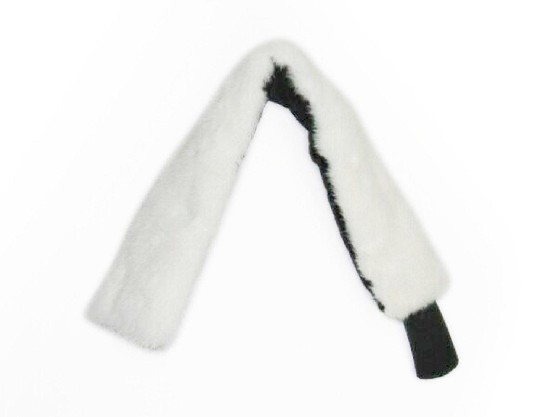 3-3.5 In Wide Ivory Mink Neck Warmer/Headband