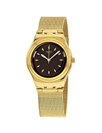 SWATCH WOMEN'S 33MM GOLD-TONE STEEL BRACELET & CASE QUARTZ WATCH YLG133M
