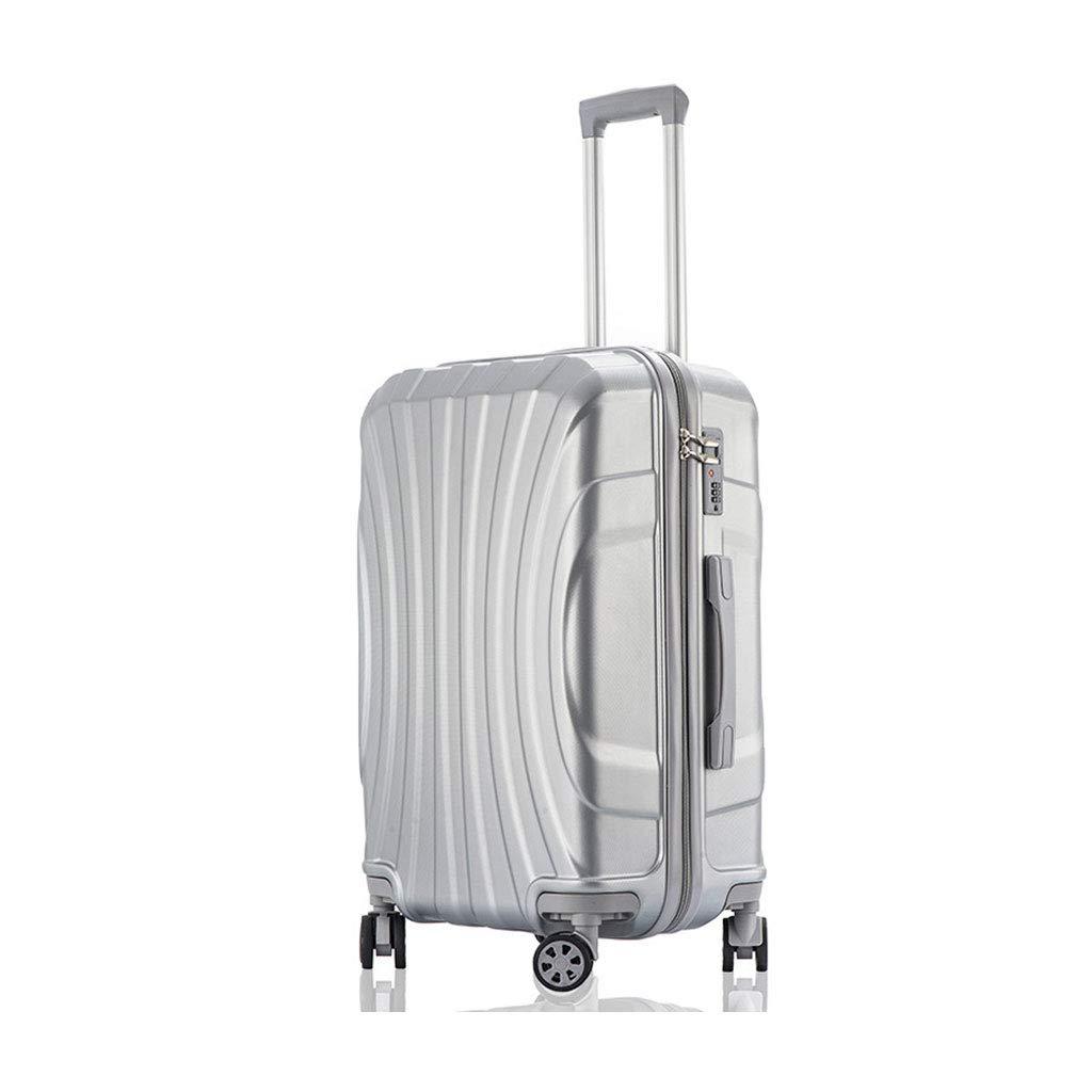 ハンド荷物超軽量ABSハードシェル旅行は4つのホイール、航空&詳細情報のために承認されたハードシェルトロリーサイズのアドオンキャビンハンド荷物スーツケースキャリー B07P7JKTKP  41cm*27cm*62.5cm