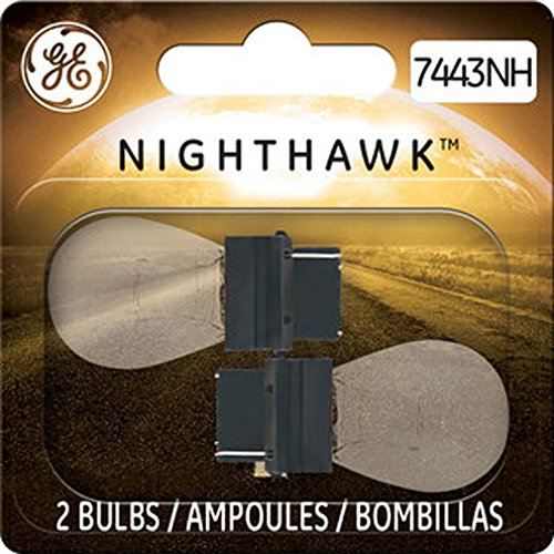 GE Lighting 7443NH/BP2 Nighthawk Replacement Bulbs, 2-Pack