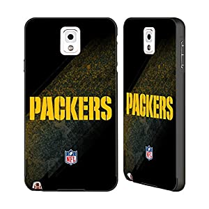 Official NFL Blur Green Bay Packers Logo Black Aluminum Bumper Slider Case for Samsung Galaxy Note 3