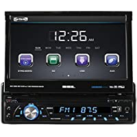 SOUND STORM SD726MB Single-DIN 7 inch Motorized Touchscreen DVD Player, Receiver, Bluetooth, Detachable Front Panel, Wireless Remote