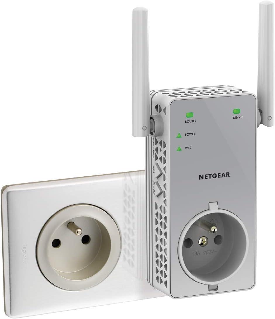 NETGEAR Répéteur WiFi (EX3800), Amplificateur WiFi AC750, WiFi Booster, jusqu'à 70m² et...