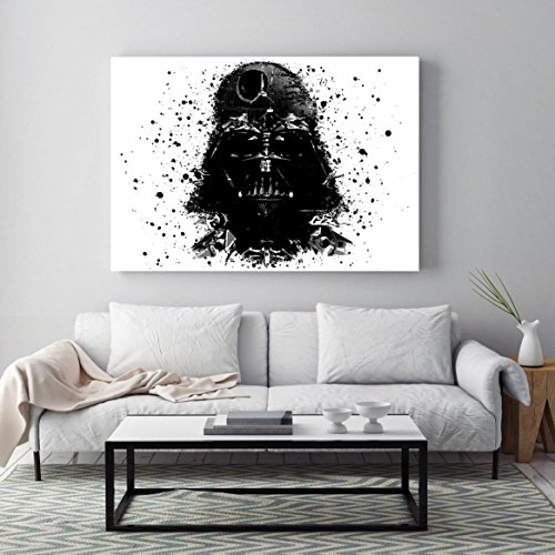 Darth Vader Helmet Art (Star wars Darth Vader Poster, Darth Vader minimalist prints, Darth Vader helmet print, All Prints avialable in 9 SIZES and 3 type of MATERIALS)