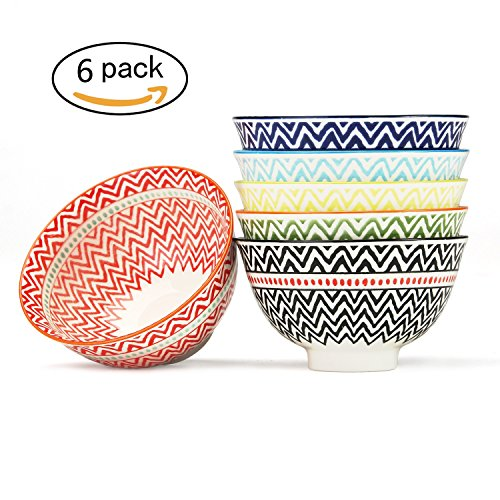 Dessert, Ice Cream, Fruit Bowls Set of 6 Assorted Colors, FAD Approved (4.5