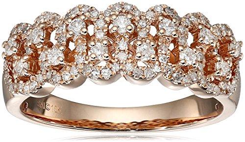 10k Pink Gold Diamond Ring (1/2cttw, I-J Color, I2-I3 Cla...