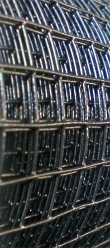 Roll of Black PVC Coated Welded Wire Mesh Aviary Fencing Hole Size ...