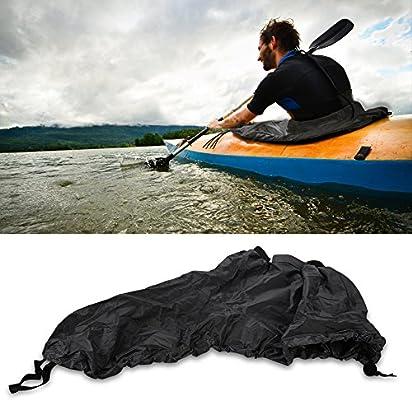 9059024bc7c659 Tbest Kayak Sprayskirt Couverture, Universal Nylon Marine Bateau Canoe  Kayak Splash Spray Jupe Deck Sprayskirt Couverture étanche
