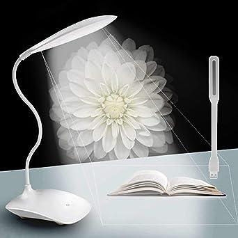 Lampara Escritorio LED + Portátil Mini LED USB Light, Recargables ...