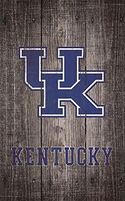 Fan Creations University of Kentucky Gray Distressed Wood Logo 11x19, Multi