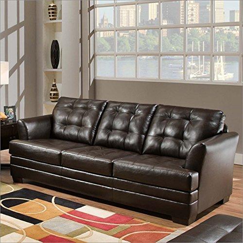 Simmons Upholstery 2055-04Q-Queen Manhattan Espresso Queen Hide-A-Bed