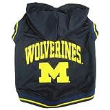 Michigan Wolverines Pet Hoodie Tee Shirt - Medium