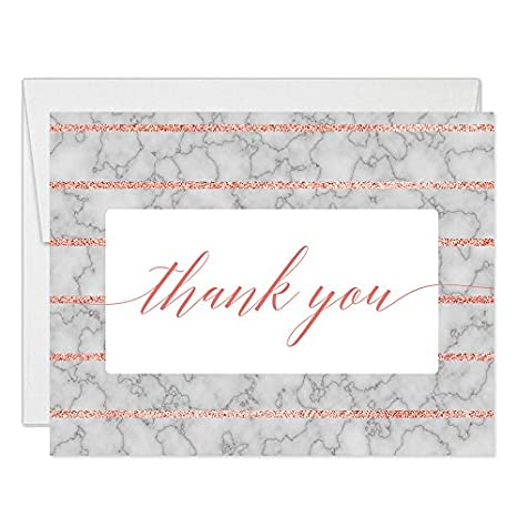 Amazon Com Marble Thank You Cards With Envelopes Pack Of 50