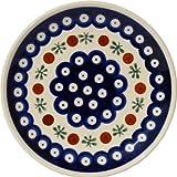 Polish Pottery Plate 6.5 Inch From Zaklady Ceramiczne Boleslawiec #Gu-818-41 Traditional Pattern, 6.5 Inch Diameter