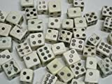 100 pcs Natural Hand Carved Bone Dice