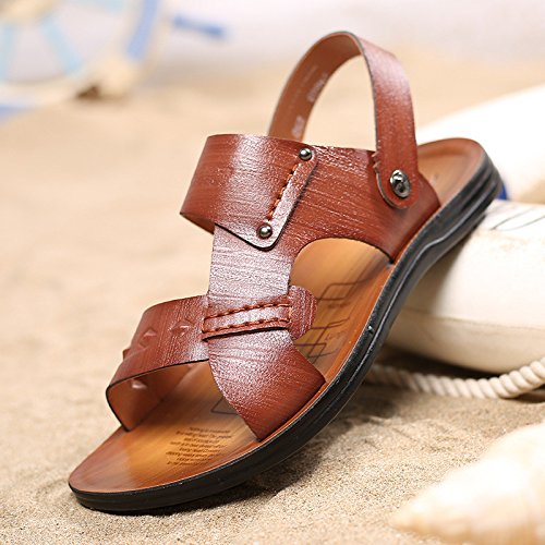 primavera estate Il nuovo Uomini sandali moda Spiaggia Uomini scarpa Tempo libero sandali ,Marrone,US=9.5,UK=9,EU=43 1/3,CN=45