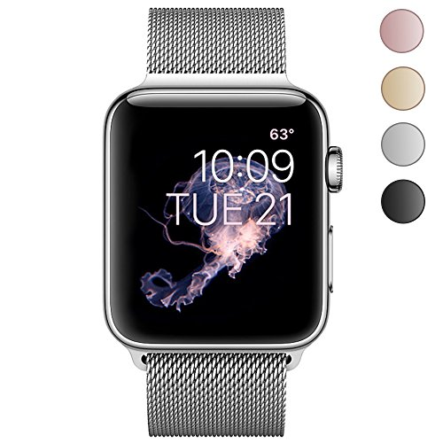 Ctybb For Apple Watch Band 38Mm  Milanese Loop Stainless Steel Magnetic Lock For Apple Watch Series 3  Series 2  Series 1  Sport   Edition  Sliver