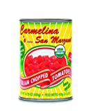 Carmelina 'e San Marzano Organic Italian Chopped Tomatoes in Puree, 14.28-Ounce Cans (Pack of 24)