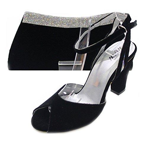 Wear & Walk UK - Sandalias de vestir para mujer negro negro J3guNi6hs