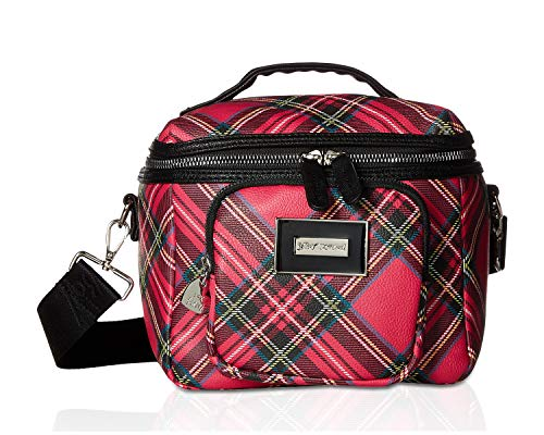 Price comparison product image Betsey Johnson Women's Plaid Print Lunch Tote Fuchsia / Black One Size
