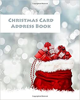 christmas card address book organise and remember your christmas cards christmas notebook address book large pages10 x 8 christmas address books