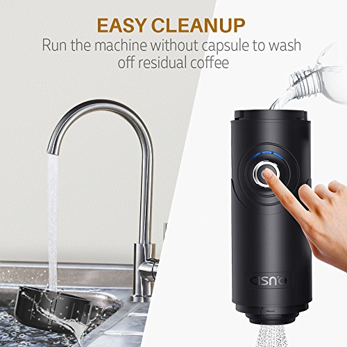 CISNO Electric Portable Espresso Machine Boils Water 15 Bars Pressure One-Button Operation Nespresso Compatible Capsule, Travel Outdoor Coffee Maker
