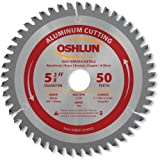 Oshlun SBNF-054050 5-3/8-Inch 50 Tooth TCG Saw Blade with 20mm Arbor (5/8-Inch and 10mm Bushings) for Aluminum and Non Ferrous Metals