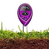Updated Soil pH Meter,3-in-1 Moisture Sensor Meter/Light/pH Soil Test Kits Test Plant Moisture Meter for Garden, Farm, Lawn, Indoor & Outdoor Use (Yellow) (Purple)