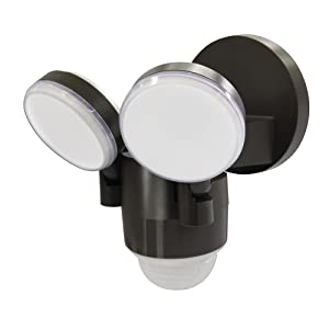 LP-1803-BZ 180-Degree Bronze Motion Activated Outdoor Integrated LED Flood Lights with 1100 Lumens (Bronze)