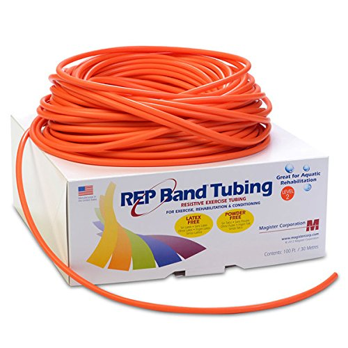 (REP Band Exercise Tubing 100-ft. Length Color: Orange, Level: 2 - Model 514802)