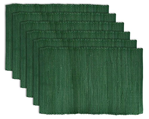 DII 100% Cotton Everyday Machine Washable Chindi Rag Placemat, 13x19