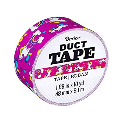 Darice 30079695 Roll: Unicorns, 1.88 Inches x 10 Yards Duct Tape, Multicolor from Darice