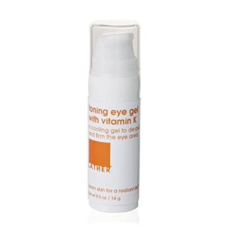 LATHER Toning Eye Gel with Vitamin K 0.5 oz refreshing, toning and soothing gel eye treatment for the delicate eye area