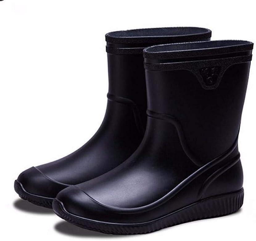 Laple Mens Rain Boots Slip On Non-Slip