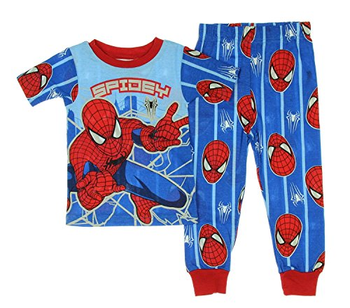Marvel Spiderman Boy 2 PC Short Sleeve Tight Fit Cotton Pajama Set Size 5T