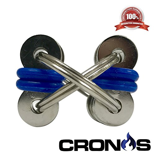 Flippy Chain - Noah Fidget - Quiet Silent Fidget Toy Stress Reducer - Perfect For ADD, ADHD, Anxiety, Autism, and Boredom all at your Finger Tips - BONUS Exclusive CronosGear Focus System eBook -